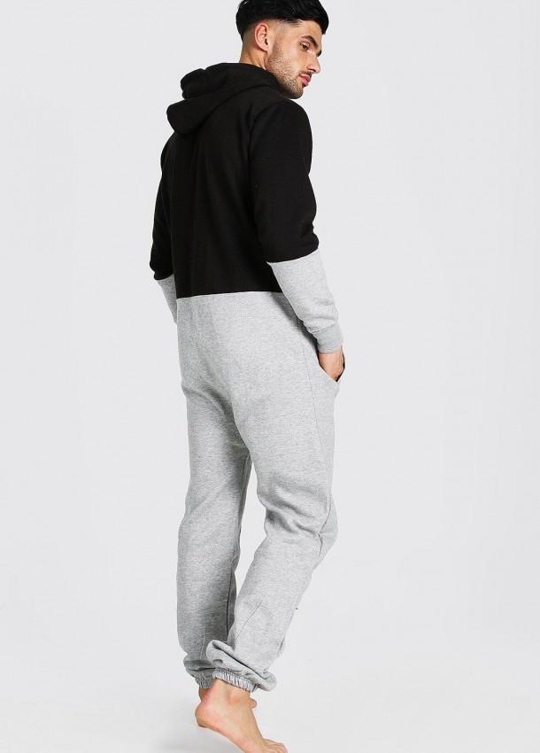 Vyriškas kombinezonas pilkos ir juodos spalvos