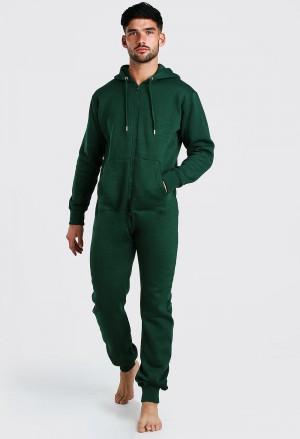 Žalios spalvos vyriškas kombinezonas