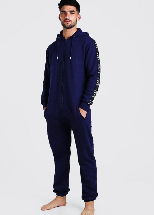 Vyriškas tamsiai mėlynos spalvos kombinezonas