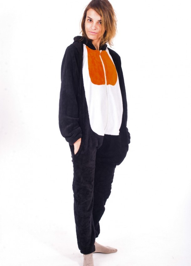 Kostiumas pingvinas šie kombinezonai skirti moterims ir vyrams