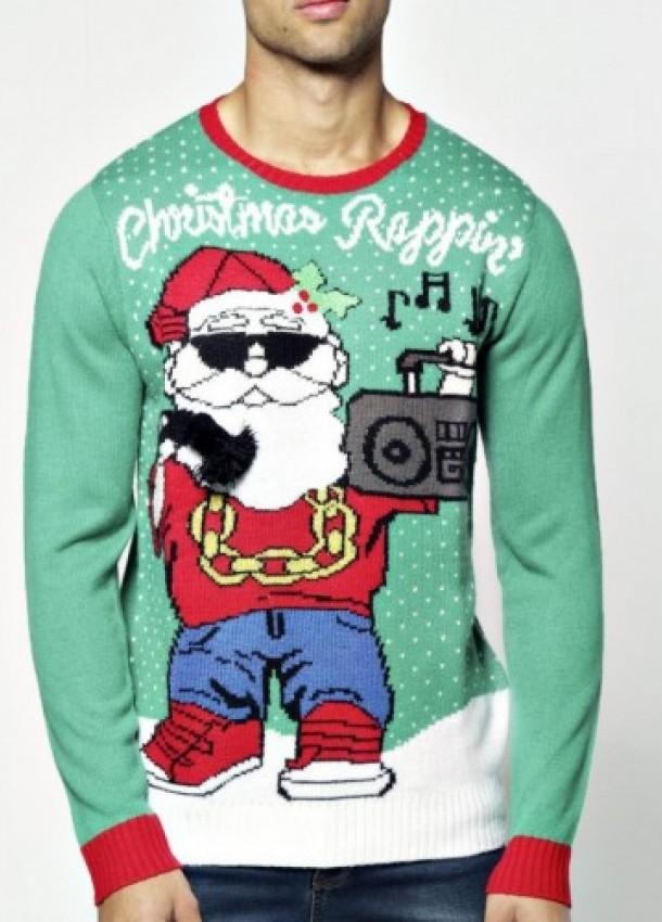 """Kalėdinis megztinis vyrams """"Rappin"""""""