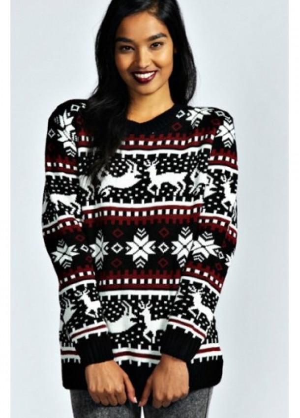 """Moteriškas kalėdinis megztinis """"Žiemos pasaka"""""""