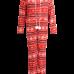 Raudonas kalėdinis kostiumas