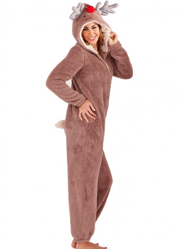 Švelnūs kombinezonai moterims kalėdinio elnio kostiumas