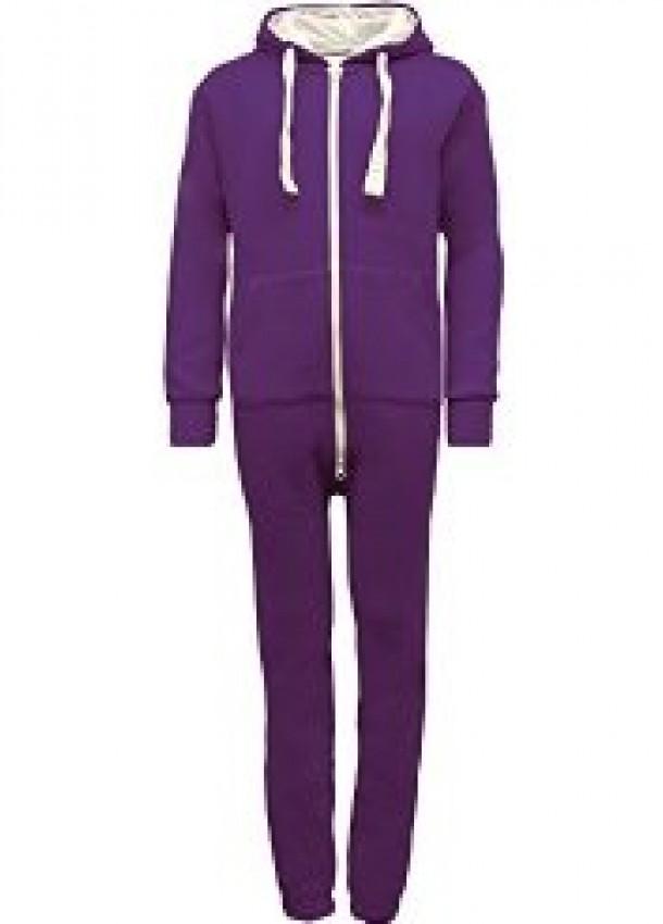 Violetinės spalvos kombinezonas